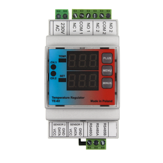 TE-02 Digitales Zweikanal oder Doppelthermostat RS485 Modbus fähig